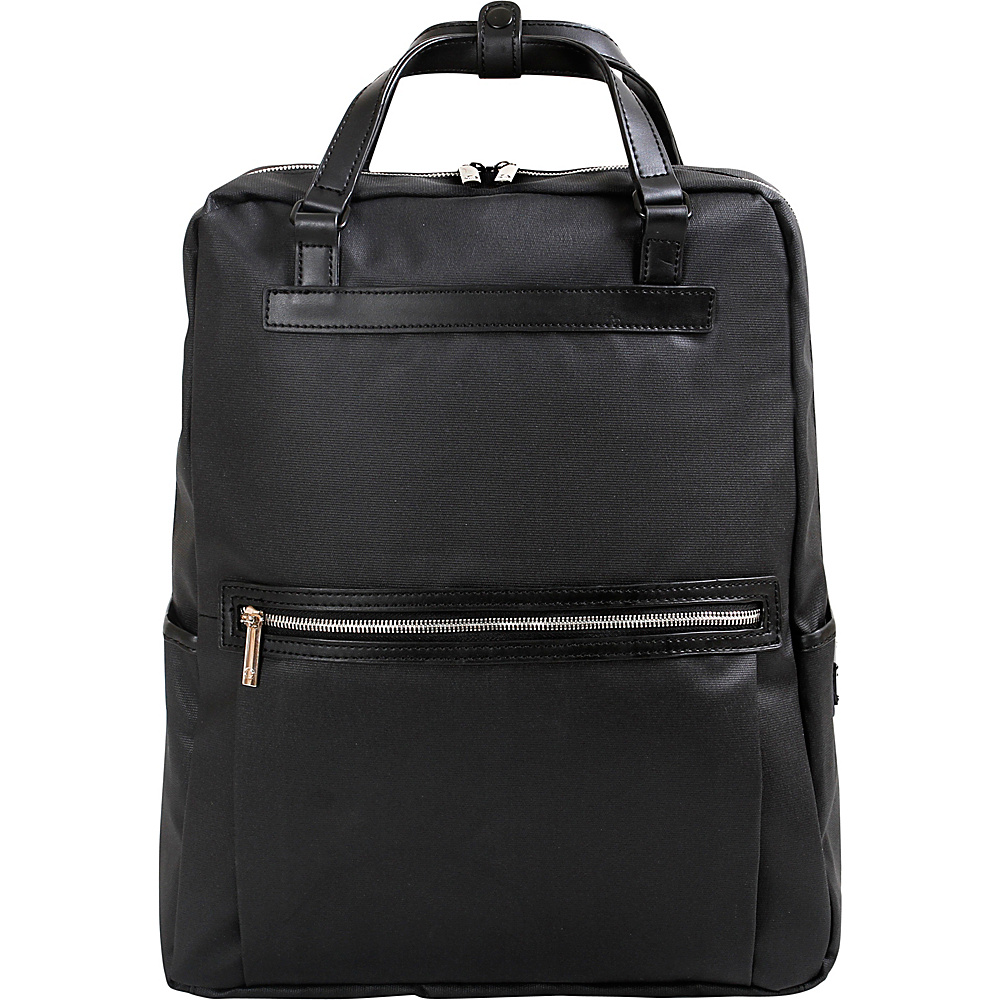 J World New York Hester Business Convertible Backpack Black - J World New York Business & Laptop Backpacks