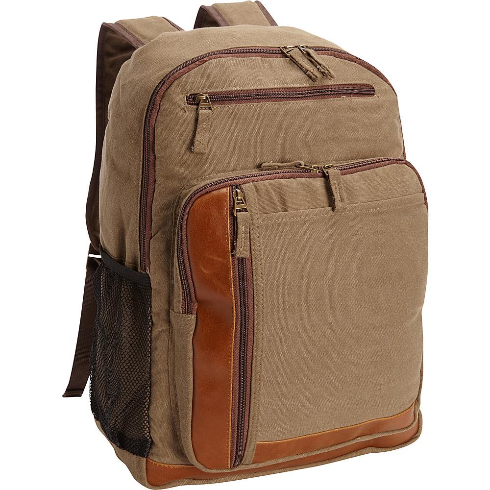 Bellino Tahoe Canvas Backpack Tan Bellino Business Laptop Backpacks