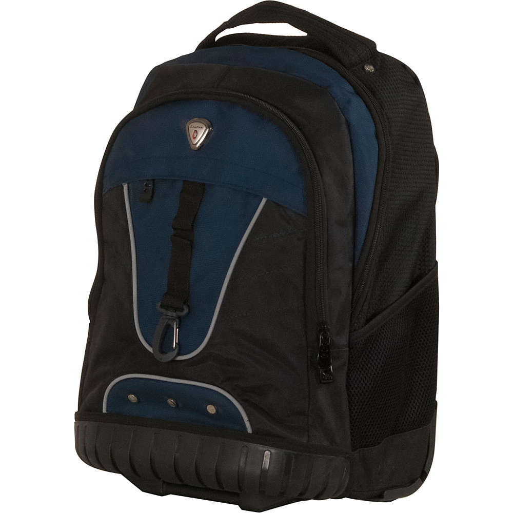 CalPak Night Vision 18 Rolling Laptop Backpack Navy Blue CalPak Rolling Backpacks