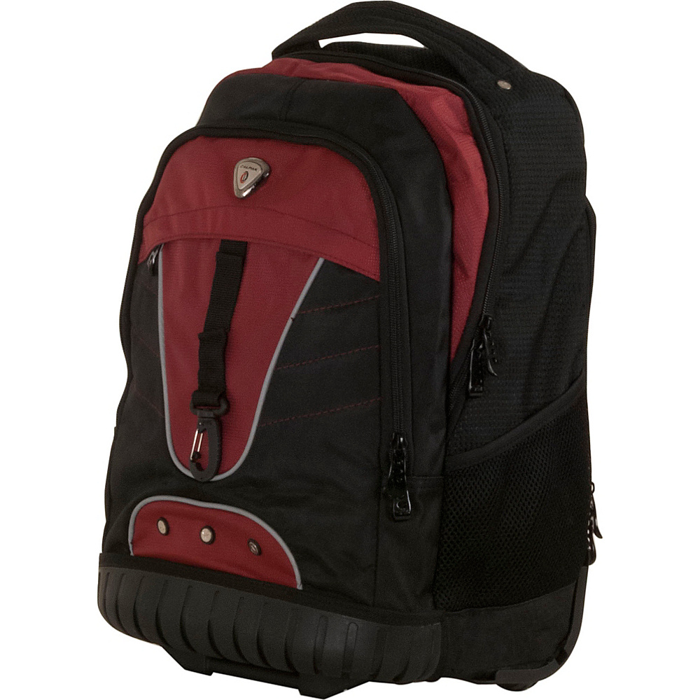 CalPak Night Vision 18 Rolling Laptop Backpack Red CalPak Rolling Backpacks