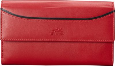Mancini Leather Goods Mancini Leather Goods RFID Secure Gemma Medium Clutch Wallet Red - Mancini Leather Goods Women's Wallets