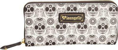 Loungefly Skull Wallet Black/White - Loungefly Women's Wallets