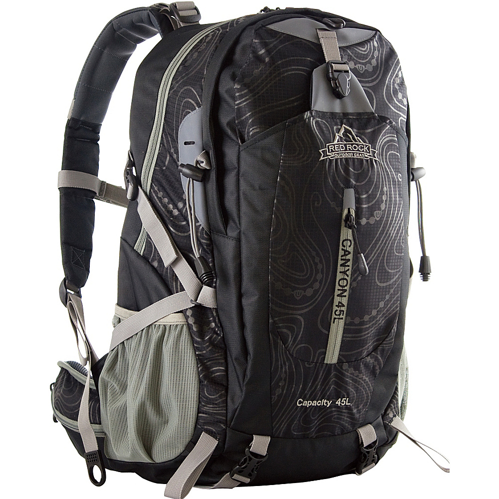 Red Rock Outdoor Gear Canyon Technical Backpack Black - Red Rock Outdoor Gear Backpacking Packs