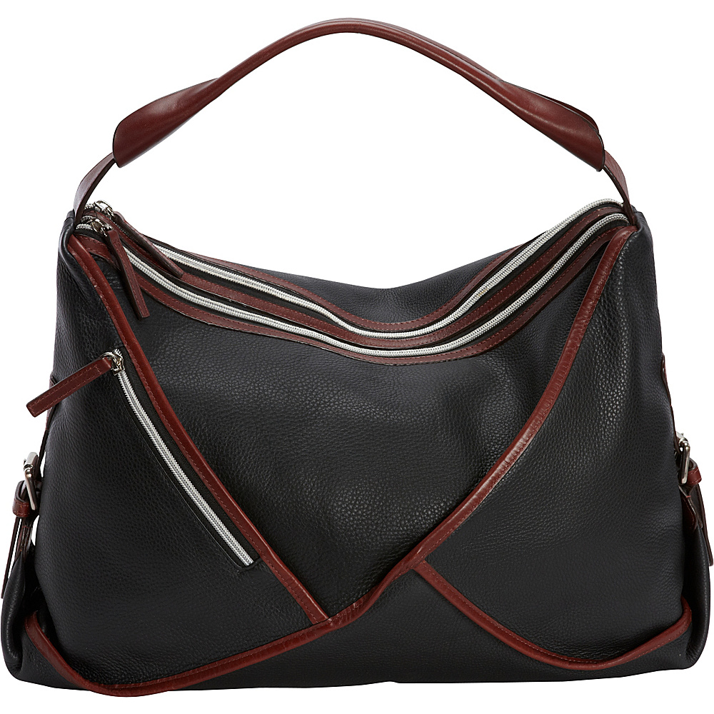Derek Alexander Large E/W Twin Top Zip Tote Black - Derek Alexander Leather Handbags - Handbags, Leather Handbags