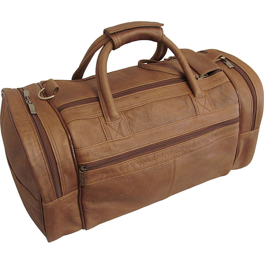 AmeriLeather 20 Leather Dual Zippered Duffel Distressed Brown - AmeriLeather Travel Duffels - Duffels, Travel Duffels