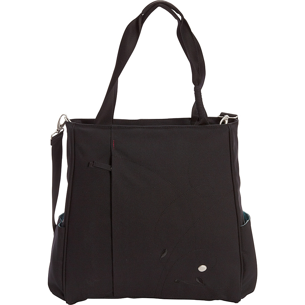Haiku Wisdom Work Tote Black Haiku Fabric Handbags