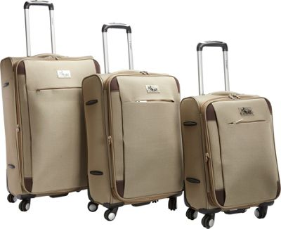 Chariot Milan 3Pc Luggage Set Khaki - Chariot Luggage Sets