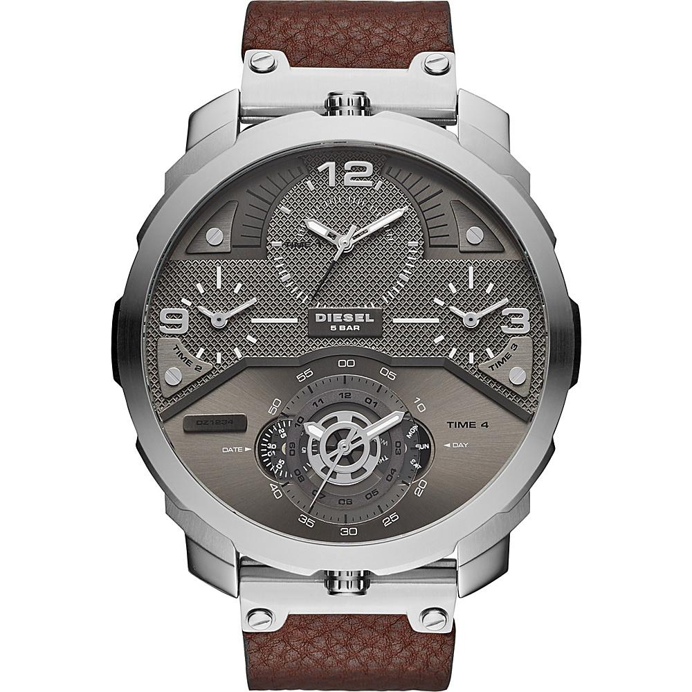 Diesel Watches Machinus Watch Brown/Silver - Diesel Watches Watches