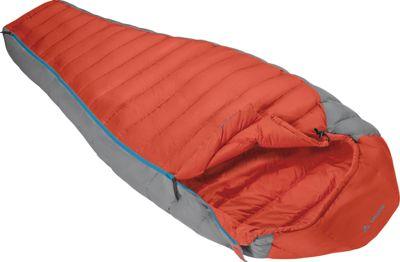 Image of Vaude Cheyenne 200 Down Sleeping Bag Red- Left - Vaude Outdoor Accessories