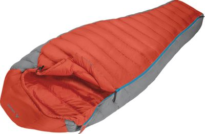 Vaude Cheyenne 200 Down Sleeping Bag Red- Right - Vaude Outdoor Accessories
