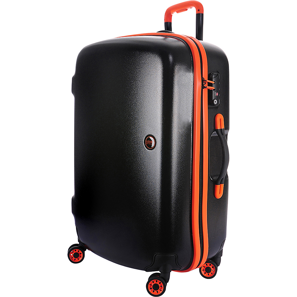 Lojel Nimbus IPX 3 Waterproof Luggage Medium Black Orange Lojel Hardside Checked