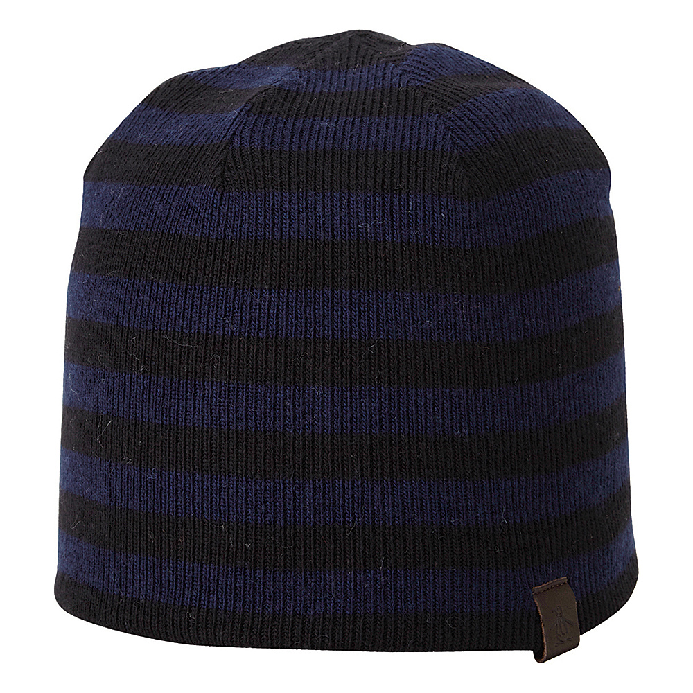 Original Penguin Ashmore Beanie Black Navy Original Penguin Hats Gloves Scarves