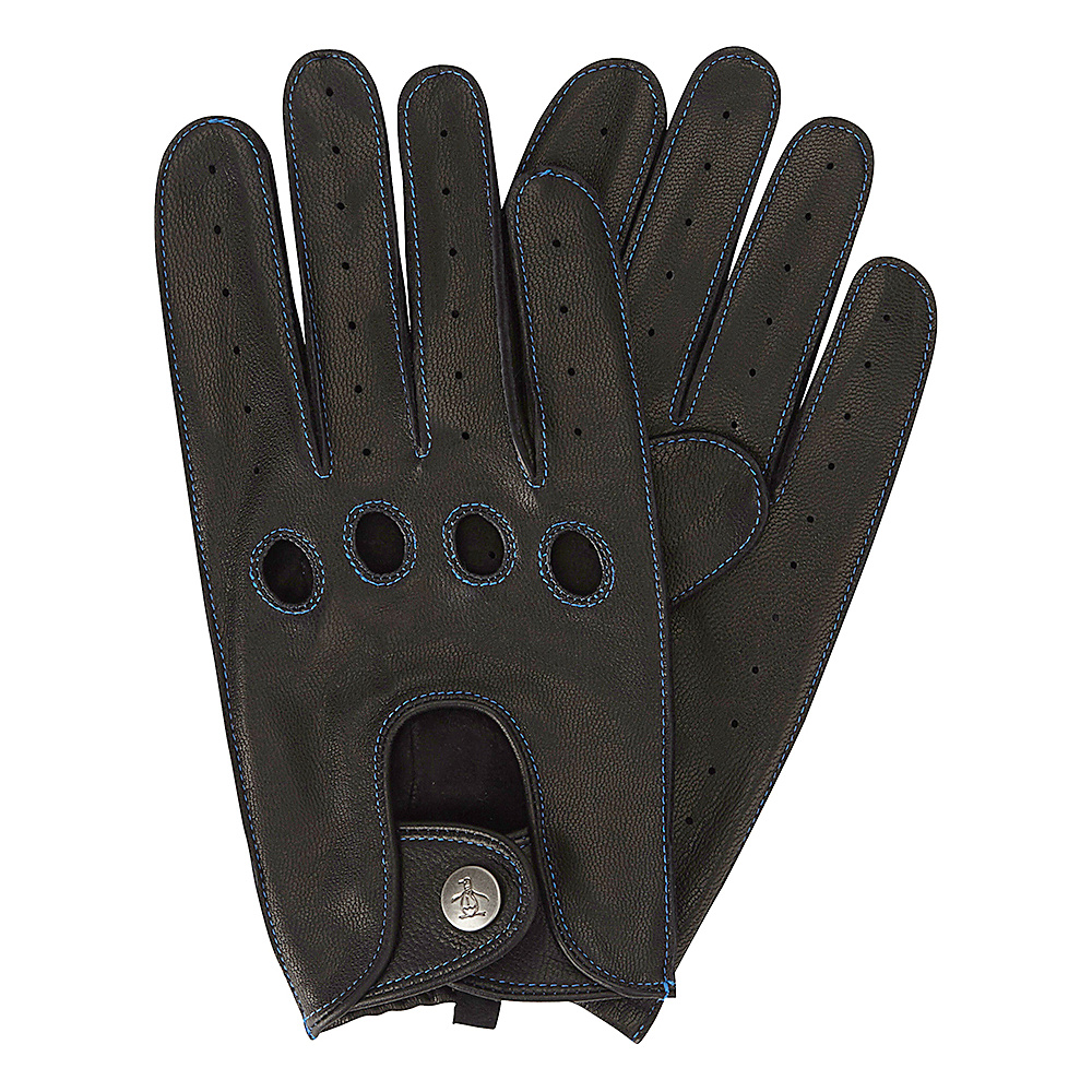 Original Penguin Sheepskin Driving Gloves Black Extra Large Original Penguin Hats Gloves Scarves