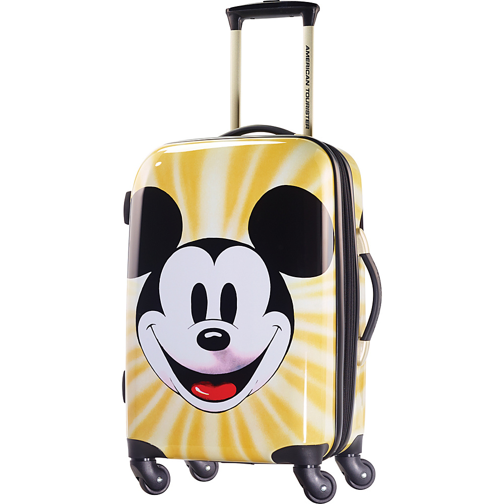"American Tourister Disney Mickey Mouse Hardside Spinner 21"" Mickey Mouse Face - American Tourister Hardside Carry-On"