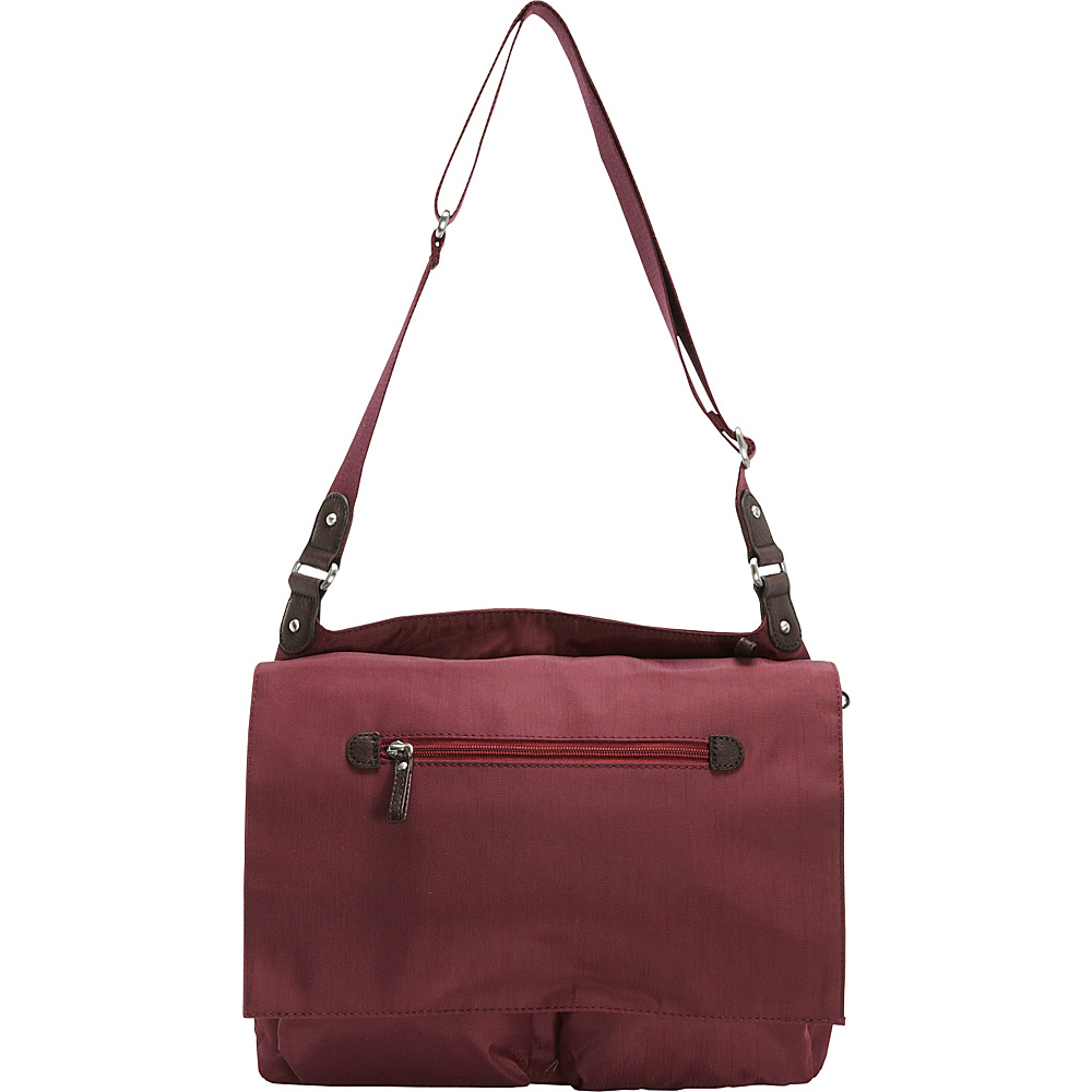 Osgoode Marley Flapped Messenger Cranberry Osgoode Marley Fabric Handbags