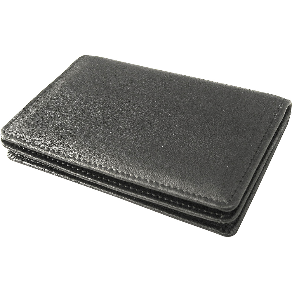 Tanners Avenue Slim Leather Card Wallet with ID Window Black Tanners Avenue Men s Wallets