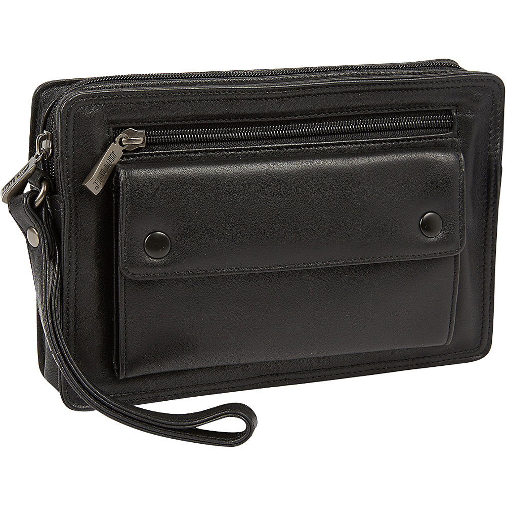 Tanners Avenue Black Napa Leather Travel Toiletry Bag Black Tanners Avenue Toiletry Kits