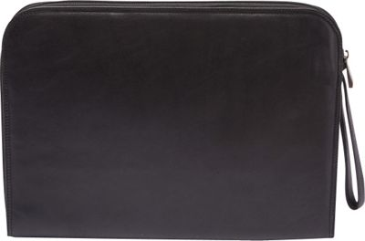 Tanners Avenue Leather Underarm Portfolio with Zip Closure Black - Tanners Avenue Non-Wheeled Business Cases