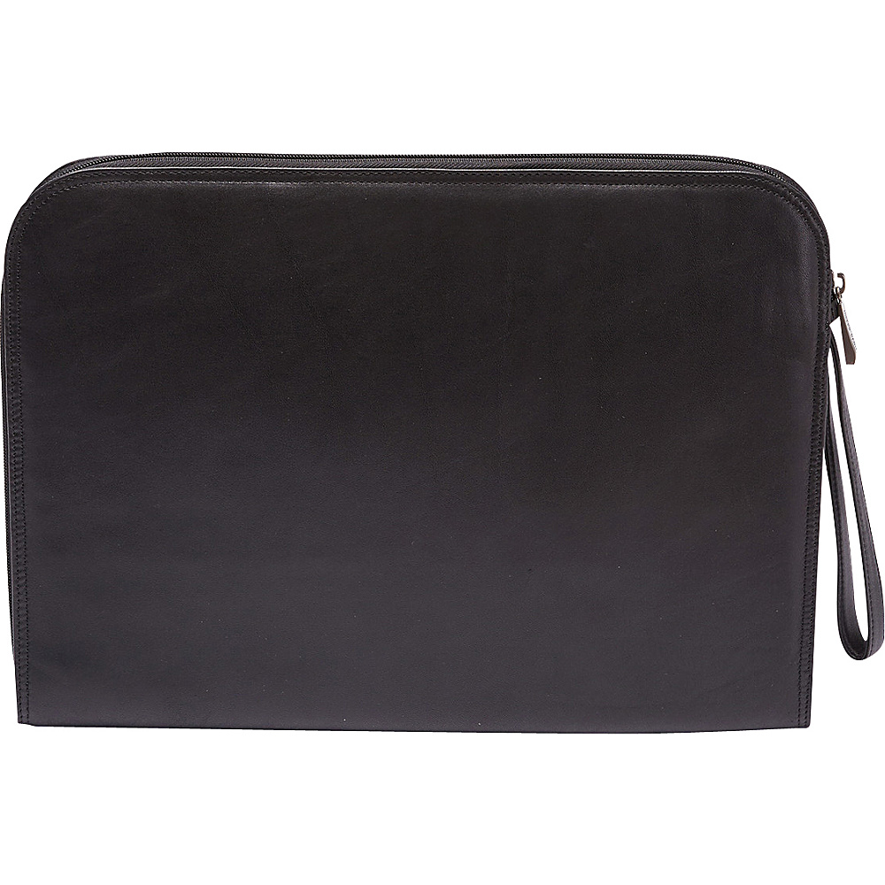 Tanners Avenue Leather Underarm Portfolio with Zip Closure Black Tanners Avenue Non Wheeled Business Cases