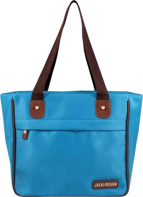 Jacki Design Essential Tote Bag Blue - Jacki Design Fabric Handbags