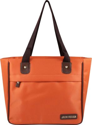 Jacki Design Essential Tote Bag Orange - Jacki Design Fabric Handbags