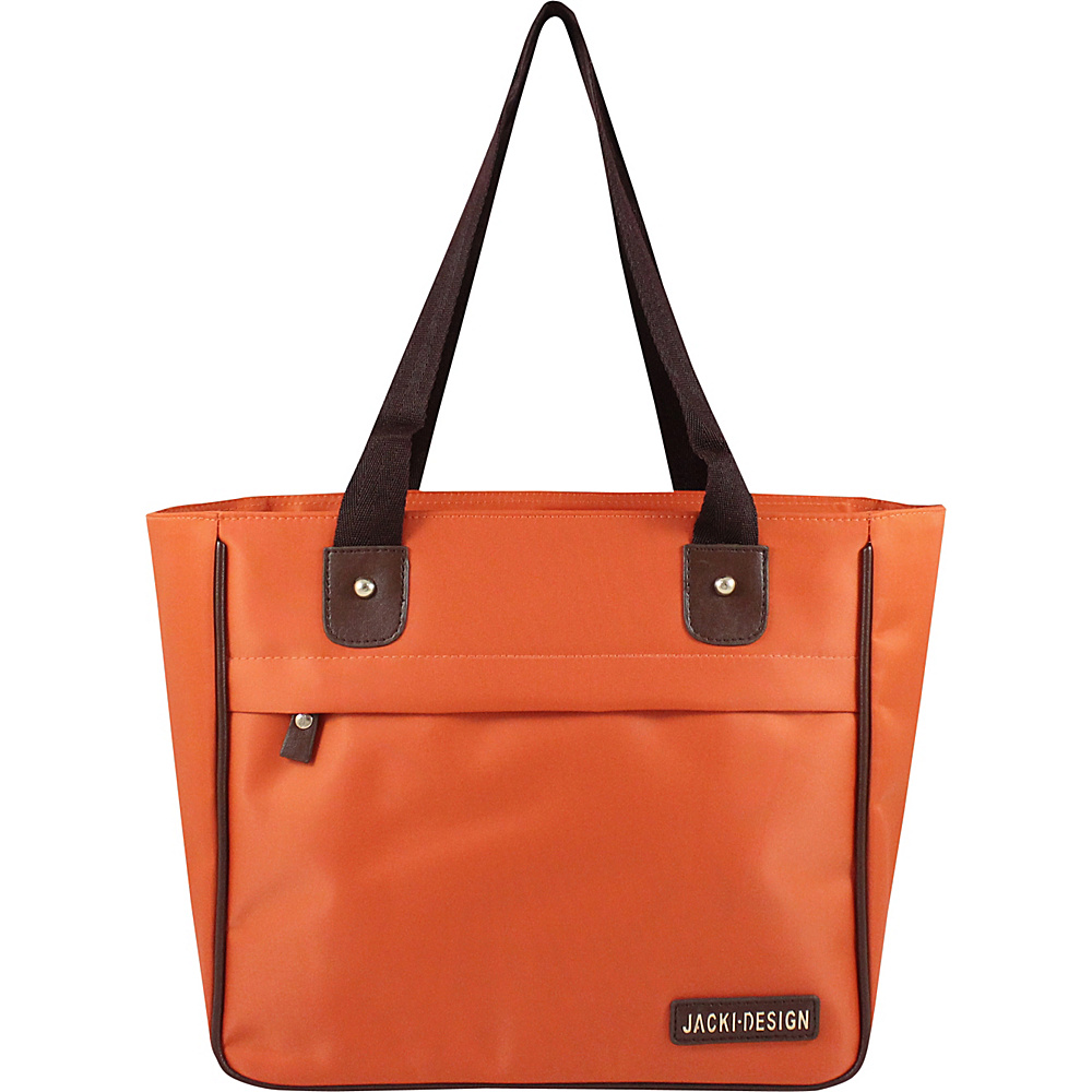 Jacki Design Essential Tote Bag Orange Jacki Design Fabric Handbags