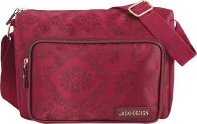 Jacki Design New Essential Messenger Bag Burgundy - Jacki Design Messenger Bags