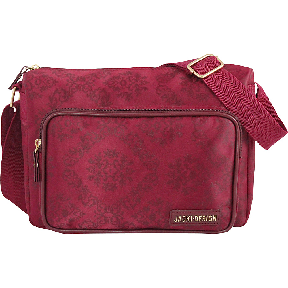 Jacki Design New Essential Messenger Bag Burgundy Jacki Design Messenger Bags