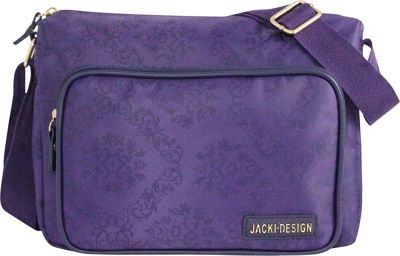 Jacki Design New Essential Messenger Bag Purple - Jacki Design Messenger Bags