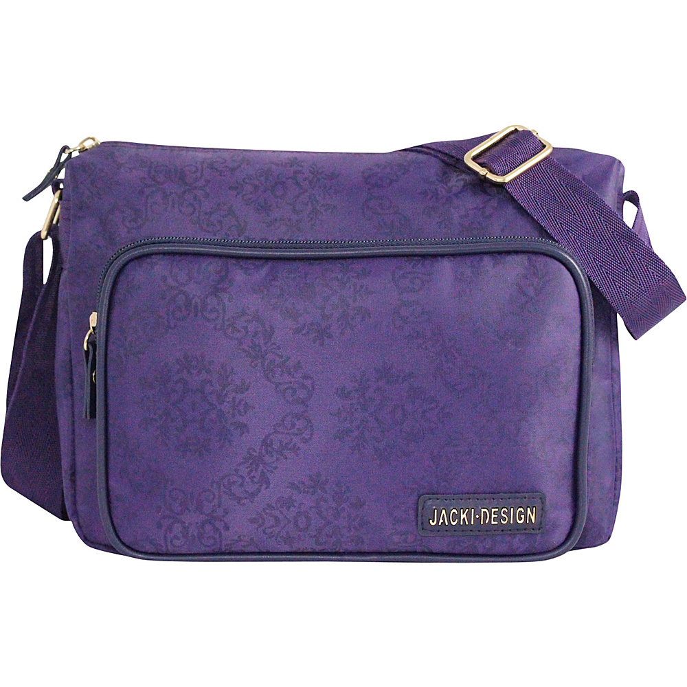 Jacki Design New Essential Messenger Bag Purple Jacki Design Messenger Bags
