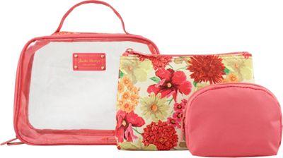 Jacki Design Miss Cherie 3 Piece Cosmetic Bag Set Coral - Jacki Design Ladies Cosmetic Bags