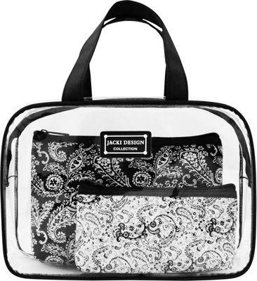 Jacki Design Mystique 3 Piece Cosmetic Bag Set Black - Jacki Design Women's SLG Other