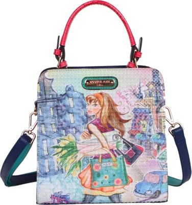 Nicole Lee Tulip Girl Print Structure Handbag Tulip Girl - Nicole Lee Manmade Handbags