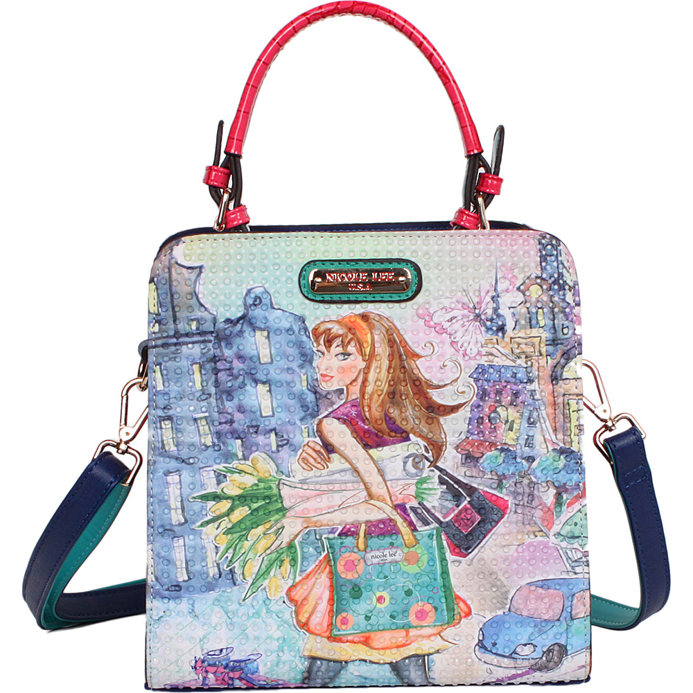 Nicole Lee Tulip Girl Print Structure Handbag Tulip Girl - Nicole Lee Manmade Handbags