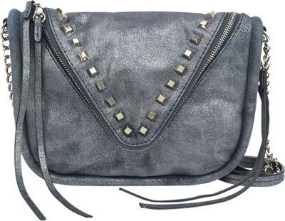 She + Lo Breakthrough Zip Crossbody Navy Metal - She + Lo Designer Handbags