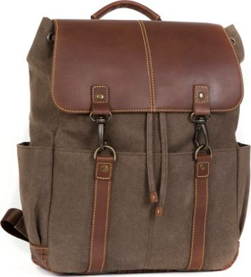 Boconi Bryant LTE Rucksack Heather Brown with Houndstooth - Boconi Everyday Backpacks