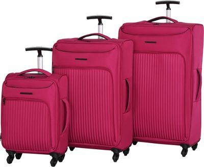 IT Luggage Megalite Vertica 3 Piece Spinner Luggage Set Persian Red - IT Luggage Luggage Sets