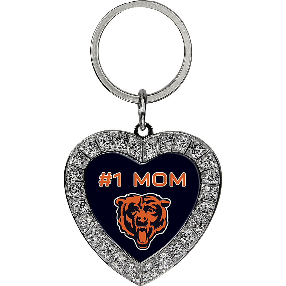 Luggage Spotters NFL Chicago Bears #1 Mom Rhinestone Key Chain Orange - Luggage Spotters Women's SLG Other