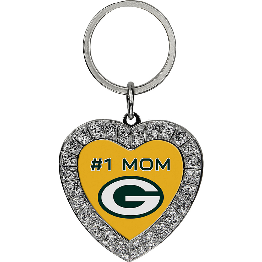 Luggage Spotters NFL Green Bay Packers #1 Mom Rhinestone Key Chain Yellow - Luggage Spotters Women's SLG Other