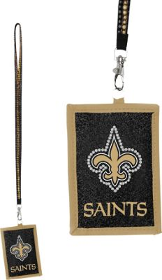 Luggage Spotters NFL New Orleans Saints Lanyard Wallet Black - Luggage Spotters Travel Wallets