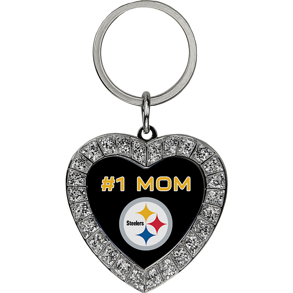 Luggage Spotters NFL Pittsburgh Steelers #1 Mom Rhinestone Key Chain Yellow - Luggage Spotters Women's SLG Other
