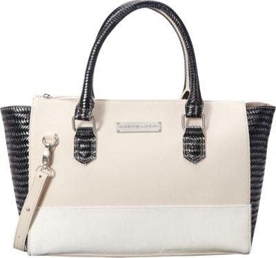 Image of Adrienne Landau Ibiza Bowery Tote White - Adrienne Landau Leather Handbags