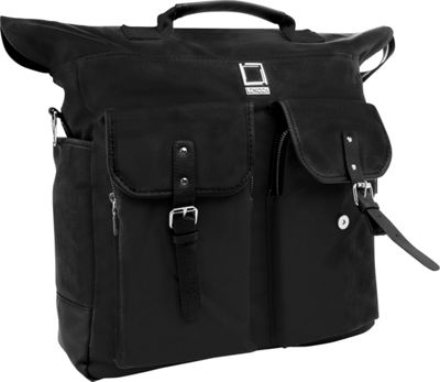 Lencca Mini Phlox 3-in-1 Backpack Messenger Tote Bag Black - Lencca Everyday Backpacks