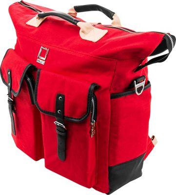Lencca Mini Phlox 3-in-1 Backpack Messenger Tote Bag Red - Lencca Everyday Backpacks