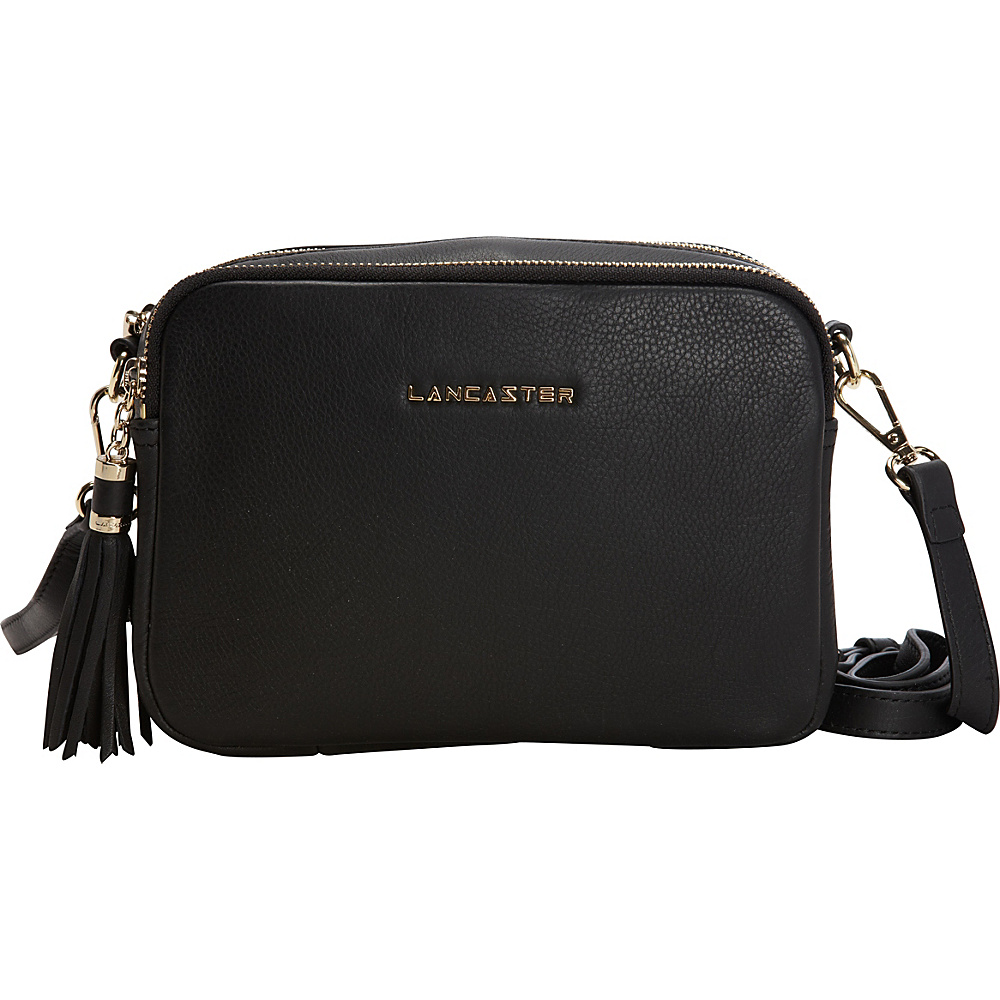 Lancaster Paris Mademoiselle Ana Black Lancaster Paris Leather Handbags