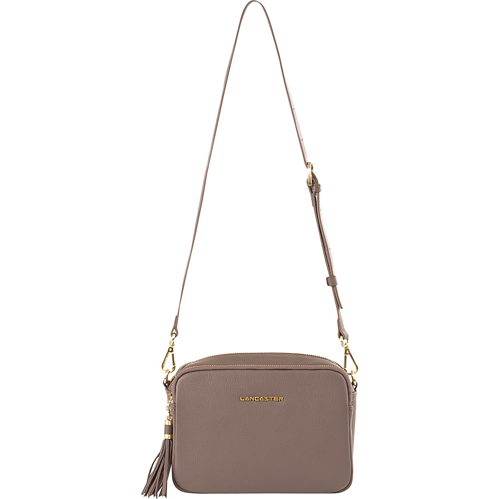 Lancaster Paris Mademoiselle Ana Taupe Lancaster Paris Leather Handbags