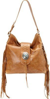 American West Seminole Soft Slouch Shoulder Bag Deerskin - American West Leather Handbags