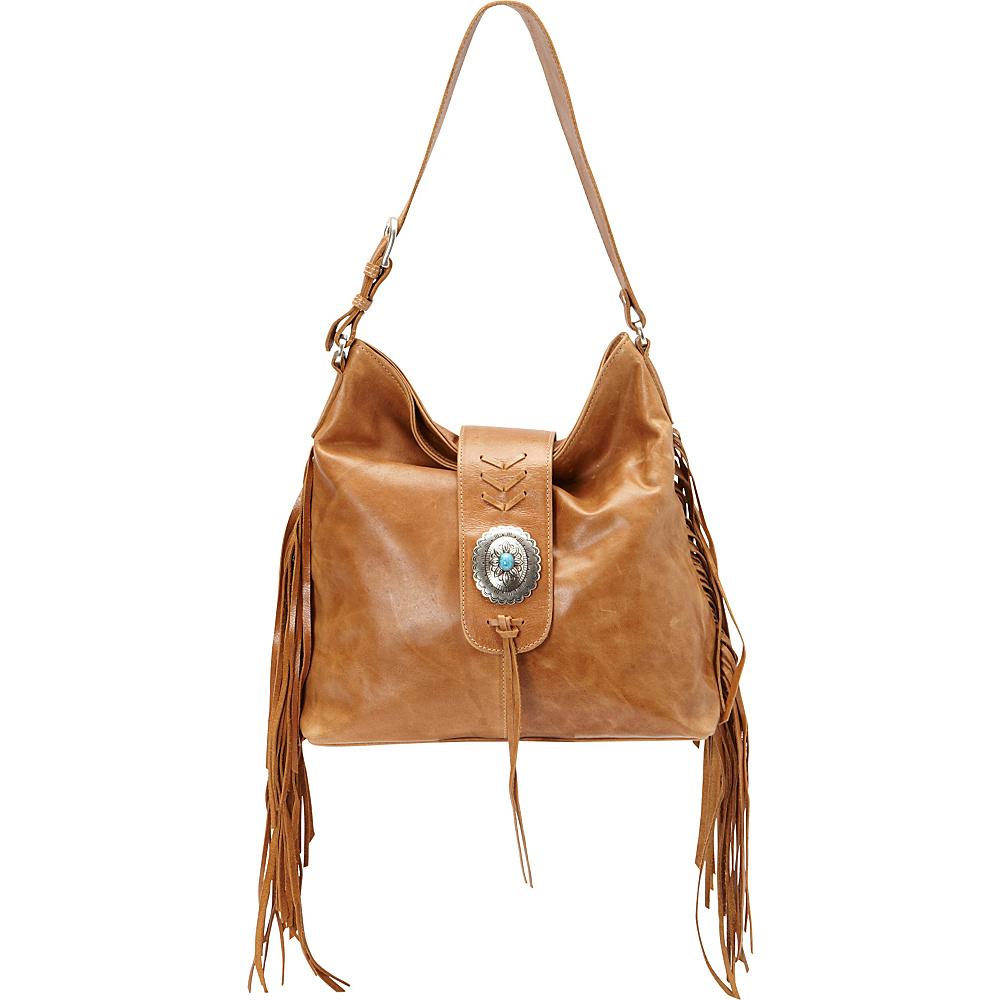 American West Seminole Soft Slouch Shoulder Bag Deerskin American West Leather Handbags