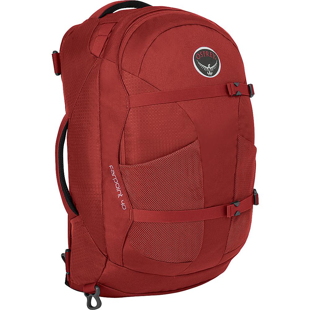 Osprey Farpoint 40 Travel Laptop Backpack Jasper Red - S/M - Osprey Travel Backpacks - Backpacks, Travel Backpacks