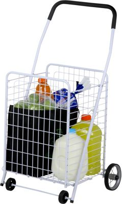 Honey-Can-Do Honey-Can-Do 4 Wheel Utility Cart white - Honey-Can-Do Luggage Accessories